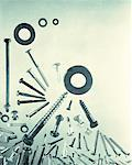 Nuts and Bolts Stock Photo - Premium Royalty-Free, Artist: Transtock, Code: 618-01243625