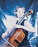 Woman Playing Cello Stock Photo - Premium Royalty-Free, Artist: David Muir, Code: 618-01244172