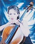 Woman and Cello Stock Photo - Premium Royalty-Free, Artist: Blend Images, Code: 618-01244510