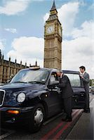 Businesspeople Getting in Taxi, London, England    Stock Photo - Premium Rights-Managednull, Code: 700-01248669