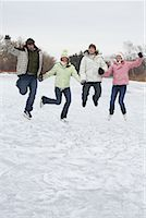 Skaters Jumping in the Air    Stock Photo - Premium Royalty-Freenull, Code: 600-01249414