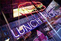 restaurant new york manhattan - Close-up of a neon sign of a restaurant, Manhattan, New York City, New York State, USA Stock Photo - Premium Royalty-Freenull, Code: 625-01252109