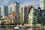 City and Docks, False Creek, Vancouver, British Columbia, Canada