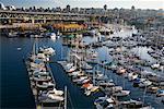 Boats, False Creek, Granville Street Bridge, Granville Island, Vancouver, BC, Canada    Stock Photo - Premium Rights-Managed, Artist: J. A. Kraulis, Code: 700-01259825