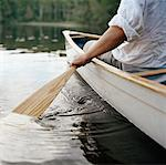 Man in Canoe, Algonquin Provincial Park, Ontario, Canada    Stock Photo - Premium Rights-Managed, Artist: Kristin Sjaarda, Code: 700-01260101