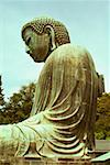 Low angle view of a statue of Buddha, Great Buddha, Kamakura, Kanagawa Prefecture, Japan Stock Photo - Premium Royalty-Free, Artist: JTB Photo, Code: 625-01263954