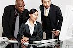Business People at Computer    Stock Photo - Premium Rights-Managed, Artist: Philip Rostron, Code: 700-01275132