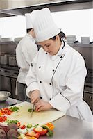 Chef Chopping Vegetables    Stock Photo - Premium Rights-Managednull, Code: 700-01275191