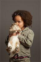 preteen kissing - Girl Kissing Rabbit    Stock Photo - Premium Royalty-Freenull, Code: 600-01275388