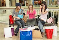 Teenagers Shopping    Stock Photo - Premium Royalty-Freenull, Code: 600-01275542