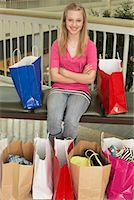 Teenager at Mall    Stock Photo - Premium Royalty-Freenull, Code: 600-01275544