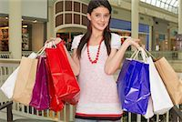 Teenager with Shopping Bags    Stock Photo - Premium Royalty-Freenull, Code: 600-01275545