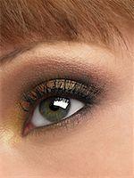 Close-Up of Woman's Eye    Stock Photo - Premium Royalty-Freenull, Code: 600-01275666