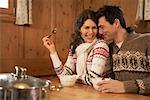 Couple Eating    Stock Photo - Premium Rights-Managed, Artist: Masterfile, Code: 700-01275896