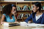 Girls Doing School Work    Stock Photo - Premium Rights-Managed, Artist: David Schmidt, Code: 700-01275950