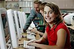 Portrait of Student in Computer Lab