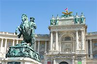 Austria, Vienna, Hofburg Palace and statue of Prince Eugen of Savoy Stock Photo - Premium Royalty-Freenull, Code: 613-01285631