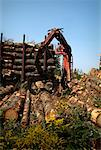 Claw Loading Lumber onto Truck    Stock Photo - Premium Rights-Managed, Artist: Sherman Hines, Code: 700-01295617