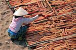 Woman Drying Fish, Nha Trang, Vietnam