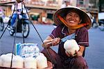 Woman Selling Coconuts, Ho Chi Minh City, Vietnam