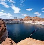 Glen Canyon Dam, Arizona, USA    Stock Photo - Premium Rights-Managed, Artist: Alberto Biscaro, Code: 700-01295755