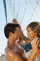sweaty woman - Couple by volleyball net Stock Photo - Premium Royalty-Freenull, Code: 604-01305229