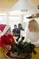 Interracial family at Christmas Stock Photo - Premium Royalty-Freenull, Code: 638-01333039