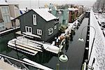 Floating Houses, False Creek, Granville Island, Vancouver, British Columbia, Canada