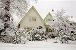 House in Winter, Point Grey, Vancouver, British Columbia, Canada