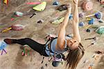 Woman in Climbing Gym
