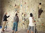 People in Climbing Gym    Stock Photo - Premium Rights-Managed, Artist: Masterfile, Code: 700-01344815