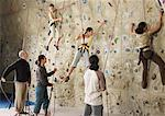 People in Climbing Gym