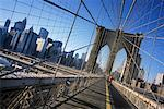 Brooklyn Bridge, New York, New York, USA    Stock Photo - Premium Rights-Managed, Artist: Damir Frkovic, Code: 700-01344850