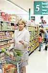 People Grocery Shopping    Stock Photo - Premium Rights-Managed, Artist: Noel Hendrickson, Code: 700-01345649