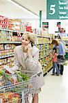 People Grocery Shopping    Stock Photo - Premium Rights-Managed, Artist: Noel Hendrickson, Code: 700-01345652