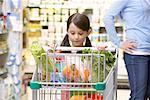 Mother and Daughter in Grocery Store    Stock Photo - Premium Rights-Managed, Artist: Noel Hendrickson, Code: 700-01345660