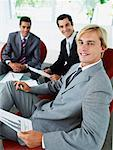 Group of office workers in a meeting Stock Photo - Premium Royalty-Free, Artist: Jon Arnold Images, Code: 635-01347193
