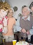Seniors at a birthday party Stock Photo - Premium Royalty-Free, Artist: Jeremy Maude, Code: 640-01348614
