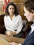 A female witness looking at a female lawyer Stock Photo - Premium Royalty-Freenull, Code: 640-01349682