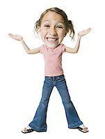preteen thong - Portrait of a girl shrugging Stock Photo - Premium Royalty-Freenull, Code: 640-01354041
