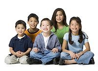 Portrait of brothers and sisters Stock Photo - Premium Royalty-Freenull, Code: 640-01355208