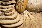 Close-up of wheat stem and slices of brown bread Stock Photo - Premium Royalty-Free, Artist: foodanddrinkphotos, Code: 640-01356949