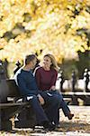 Couple sitting on a park bench Stock Photo - Premium Royalty-Free, Artist: Masterfile, Code: 640-01360307