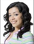 Portrait of a teenage girl smiling Stock Photo - Premium Royalty-Free, Artist: imagebroker, Code: 640-01362326