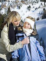 Close-up of a mother with her daughter outdoors Stock Photo - Premium Royalty-Freenull, Code: 640-01363192