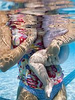 Mother and daughter in swimming pool Stock Photo - Premium Royalty-Freenull, Code: 640-01364146