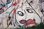 Graffiti of a human face on a wall Stock Photo - Premium Royalty-Free, Artist: Transtock, Code: 640-01365348