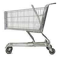 empty shopping cart - Close-up of an empty shopping cart Stock Photo - Premium Royalty-Freenull, Code: 640-01366586