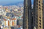 Spain, Barcelona, Sagrada Familia spire and cityscape, elevated view Stock Photo - Premium Royalty-Free, Artist: Kathleen Finlay, Code: 613-01370951
