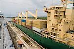 Gatun Lock, Panama Canal, Panama    Stock Photo - Premium Rights-Managed, Artist: John Gertz, Code: 700-01374381